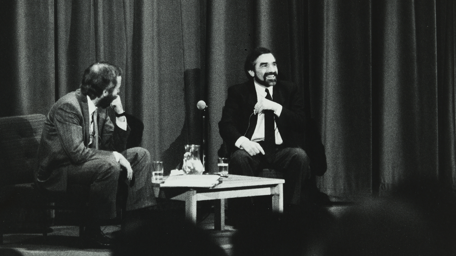 Martin Scorsese on stage at Filmhouse, 1985