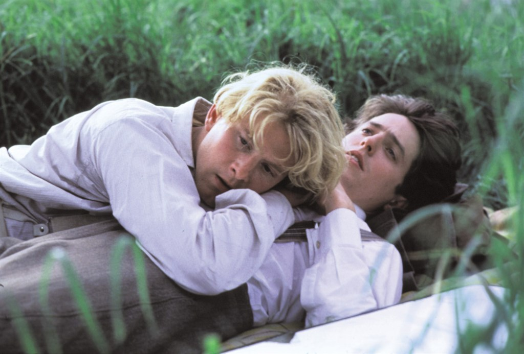 Hugh Grant and James Wilby in Maurice, 1987