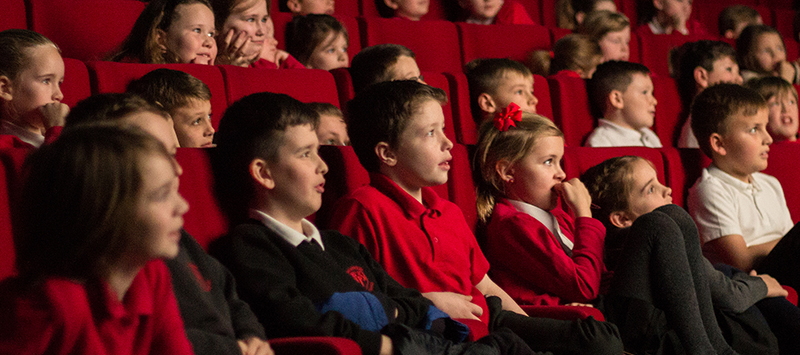 Kids at a screening