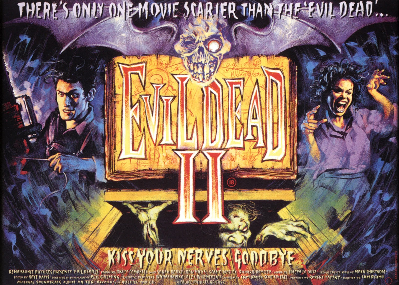 Evil Dead 2 original UK quad poster