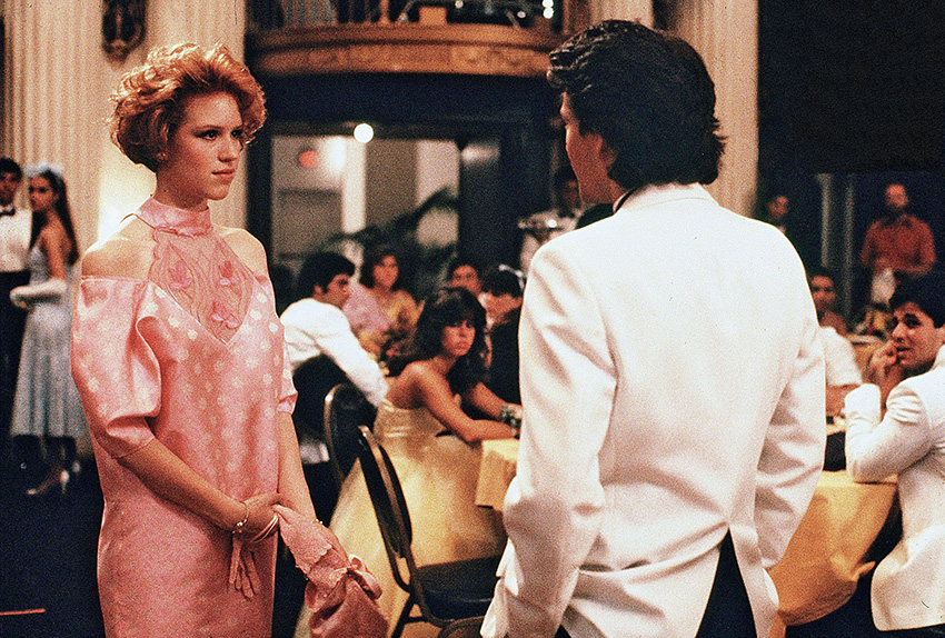 Still from Pretty in Pink, Andie at Prom